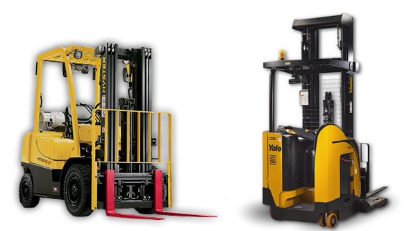 Hyster and Yale forklifts