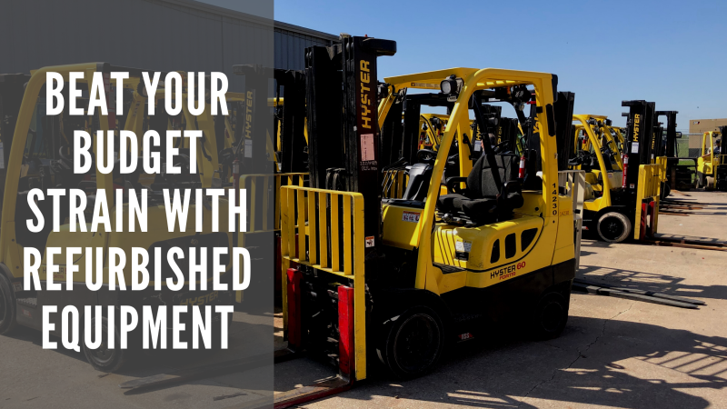 Beat Your Budget Strain with Refurbished Equipment